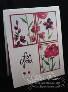 Cool Cards, Diy Cards, Quick Cards, Stampin Up, Poppy Cards, Stamping Up Cards, Card Tutorials, Creative Cards, Flower Cards