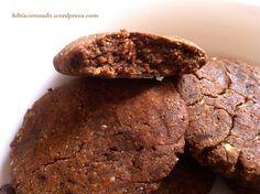 Cookies fondants à la caroube et à la farine de pois chiches {vegan et sans gluten}   Mellow carob and chickpea flour cookies {#vegan and #glutenfree}  Http://hibiscorosado.wordpress.com