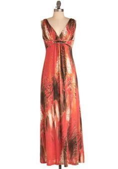 While nothing like the movie (or anything describe in Suzanne Collins' books), this would be my pick for a girl-on-fire-Katniss dress!