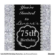 78 Best 75th Birthday Invitations Images In 2019