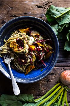 Miso Browned Butter and Brie Pasta with Roasted Beets + Walnuts   halfbakedharvest.com @hbharvest