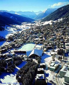 Davos Switzerland... where I learned how to snowboard! Must go again...