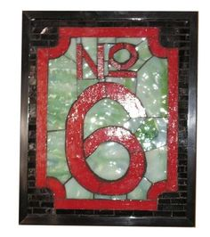 Custom Made Stained Glass Mosaic House Number
