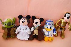 Tokyo Disneyland Star Wars Jedi Mickey R2-D2 C-3PO Yoda Leia Plush chain Japan #Disney