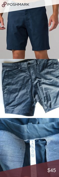 Men's Lululemon Chino Shorts EUC My husband wore these 2-3 times. Perfect condition. First photo shows the style last two pictures shows the color. Color  is best seen in last photo. Size 36 lululemon athletica Shorts Flat Front