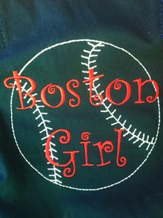 A customer got this Icon-It embroidery on a Spirity Navy Retro Metro Bag to show off her Red Sox pride!