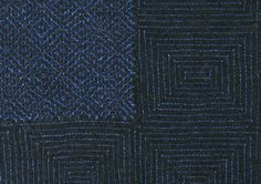 sashiko designs | image: Detail of a work coat, diamond pattern; Cotton, quilted in ...