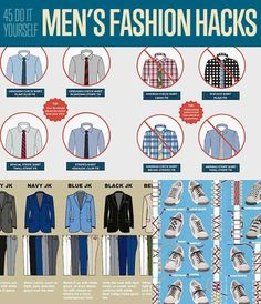 DIY Fashion Ideas! 45 DIY Men's Fashion Hacks| Fashion Tips for Menhttp://diyready.com/45-diy-mens-fashion-hacks/: