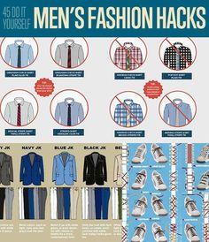 DIY Fashion Ideas! 45 DIY Men's Fashion Hacks| Fashion Tips for Menhttp://diyready.com/45-diy-mens-fashion-hacks/: