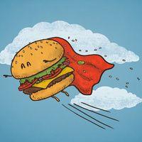 by Terry Fan Hamburgers, Doodle Wall, Desenho Pop Art, Burger Places, Terry Fan, Funny Doodles, Printable Scrapbook Paper, Online Gift Shop, Food Illustrations