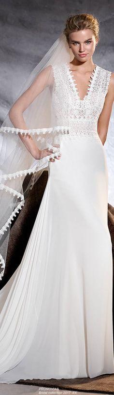 PRONOVIAS Bridal Collection 2017 - EE Soft Wedding Dresses, Wedding Gowns, Wedding Story, Wedding Things, Wedding Updo, Wedding Bride, Pronovias Bridal, Older Bride, Wedding Inspiration