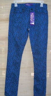 Max Azria Miley Cyrus Animal Skinny Pants Jeans Junior Size 5 New Blue  free shipping #gingernell
