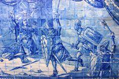 Conquête de Lisbonne en 1147. Panneau de azulejos, belvédère Santa Luzia. © José Luiz Bernardes Ribeiro