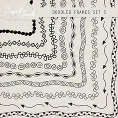 Doodled Frames 5 - 8.5 x 11 - Digital Clipart for card making, scrapbooking, invitations, printed products, commercial use on Etsy, 2,61€