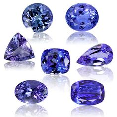 Tanzanite is a deep purple-blue in color, similar to iolite. It sold in faceted cuts and has a hardness of 6.5.