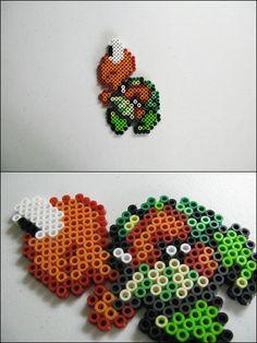 Super Mario 3 - Koopa Troopa - bead sprite magnet