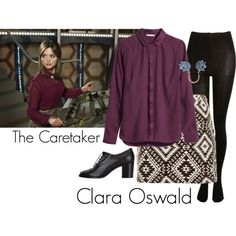 """Clara Oswald - The Caretaker"" by ansleyclaire on Polyvore"