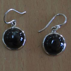 Classic Design Earring Black Onyx #Gemstone 925 #Sterling #Silver #Earrings by Devmukti Jewels @ Etsy.com