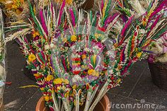 Photo about Traditional Easter palms on main market , Easter fair in Krakow. Image of event, flower, colorful - 90328174 Krakow Poland, Easter Traditions, Palms, Stock Photos, Traditional, Flowers, Color, Image, Palmas