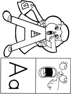 Cute Coloring Pages 23 Nice Pictures Letter People Beginnings Preschool Person A And Song
