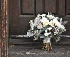 frosted winter bridal bouquet