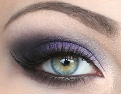 Purple eyeshadow does wonders for any eye color..