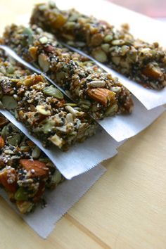 Paleo KIND Bars  1 cup almonds ½ cup walnuts, pecans, or your favorite nut ½ cup shredded unsweetened coconut 1/3 cup golden raisins 2/3 cup pumpkin seeds 2/3  cup sunflower seeds 3 Tbsp sesame seeds 3 Tbsp chia seeds 1 Tbsp orange zest 2 Tbsp coconut oil, melted 1/2 cup honey