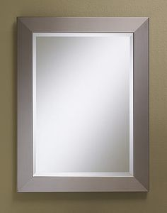 "Faux Stainless Steel Framed Bevel Mirror  #254 - 25.5""w, 1""d, 33.5""h (pictured) #255 - 28""w, 1""d, 40""h #256 - 32""w, 1""d, 32""h"