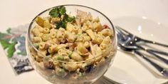 Valmista Kinkku-makaronisalaatti tällä reseptillä. Helposti parasta! Pasta Salad, Potato Salad, Macaroni And Cheese, Food And Drink, Potatoes, Ethnic Recipes, Koti, Google, Crab Pasta Salad