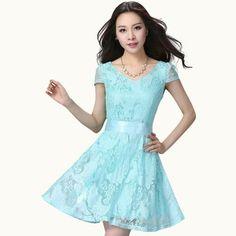 vestidos juveniles cortos azul