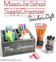 What a great way to organize your desk supplies -- or even to surprise your teacher with an end-of-year thank you gift!