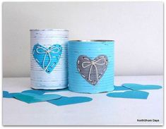 NorthShore Days: Threaded Valentine Tins (for my buttons) Tin Can Crafts, Crafts To Make, Crafts For Kids, Diy Crafts, Valentine Day Crafts, Valentine Decorations, Coffee Filter Crafts, Love Craft, Valentine's Day Diy