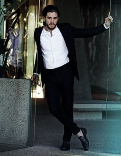 Rebel with a cause: Mr Harington 'has an innate confidence and projects a playfully rebellious nature,' according to Jimmy Choo's creative director, Sandra Choi
