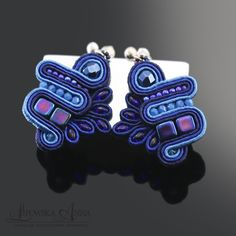 692 Anna Lipowska LiAnna Biżuteria sutasz   soutache  www.lianna.blox.pl Soutache Earrings, Jewellery Earrings, Cufflinks, Anna, Accessories, Soutache Jewelry, Wedding Cufflinks, Ornament