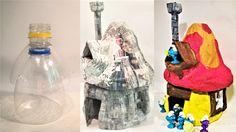 Jak zrobić domek dla smerfów z butelki - Pomysły plastyczne dla każdego