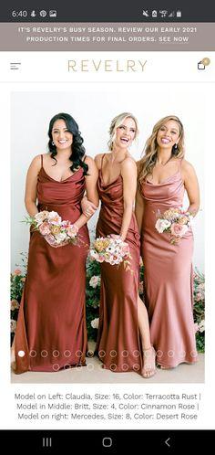 Champagne Bridesmaid Dresses, Bridesmaid Dress Colors, Wedding Dresses For Bridesmaids, Bridal Party Dresses, Bridesmaids With Different Dresses, 3 Bridesmaids Pictures, Maid Of Honor Dress Different, Ideas To Ask Bridesmaids, Satin Wedding Dresses