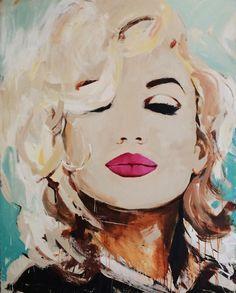 "If I could paint like anyone, it would be Daniel. I die a little. ""A Monroe Kiss"" -Daniel Maltzman Divas, Marilyn Monroe Art, Arte Pop, Heart Art, Contemporary Paintings, Modern Art, Pop Art, Art Projects, Illustration Art"