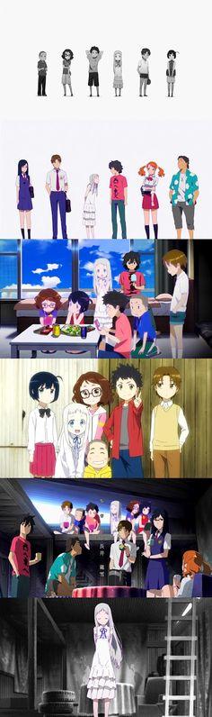 AnoHana un anime Q te llega al corazón Pues trata d como seria si perdieras a un ser querido a temprana edad