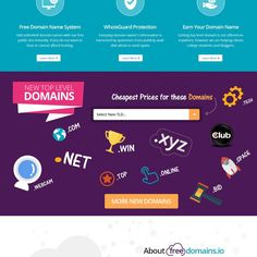 redesign freedomains.io domain reseller by Neef