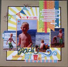 #papercraft #scrapbook #layout    Beach Boy - Scrapbook.com