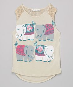 Look at this Taupe Elephant Tank on #zulily today!