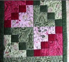 "double 4 patch, think rectangles for combining ""The Secret Life of Mrs. Meatloaf: Rita's quilt and some big artichokes"", ""artichoke LIKE this. Scrappy Quilts, Easy Quilts, Mini Quilts, Patchwork Quilting, Quilt Block Patterns, Pattern Blocks, Quilt Blocks, Quilting Tutorials, Quilting Projects"
