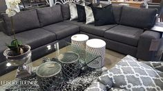 Leisure Lounge manufactures custom-made upholstered furniture! Visit our showrooms in Durban, Hillcrest and Umhlanga or see our stunning range right here. Upholstered Furniture, Outdoor Furniture, Outdoor Decor, Ceramic Stool, Metal Stool, Glass Table, Grey And White, Corner, Lounge