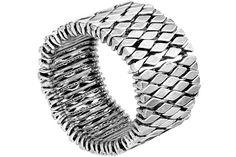 Bracelet Faience Bis plaqué argent, L, Ø60mm Metal Pointu's