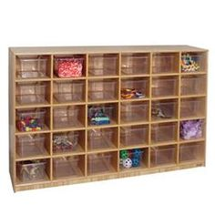 Wood Designs™ 30-Cubby Storage Cabinets