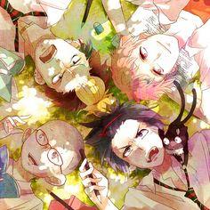 Ao no Exorcist- Konekomaru, Rin and Kuro, Renzou and Ryugi