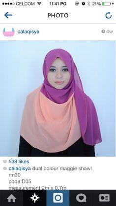 Purple + peach, calaqisya