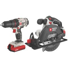 Porter Cable Product Details for 20V MAX Lithium Ion 2-Tool Combo Kit - Model # PCCK605L2