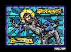 'Jesus vs Satan' Poster by Meerkatsu Jiu Jitsu Gym, Ju Jitsu, Bjj Tattoo, Martial Arts Techniques, Martial Arts Workout, Brazilian Jiu Jitsu, Aikido, Mixed Martial Arts, Sports Art
