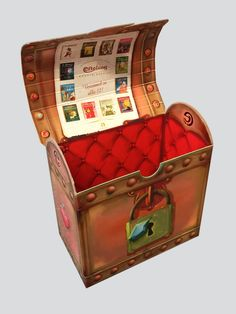 Treasure box de Efteling, cardboard Karton Design, Treasure Boxes